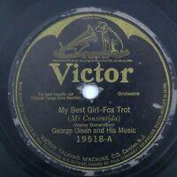 """My Best Girl/Little Ray of Golden Sunshine George Olsen Victor 19518 E- 78 10"""""""