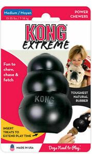 KONG Extreme Black Dog Chew Toy Tough Power Chewers Medium