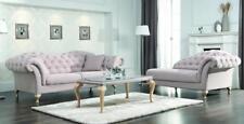 Chesterfield Sofagarnitur Sofa Polster Set Chaiselounge Klassischer Stil Couch