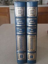 Ayn Rand~Atlas Shrugged~Easton Press~2 Vol Burgundy Tooled Leather~Near Mint!!