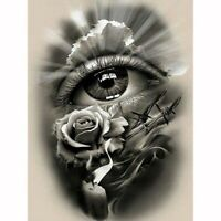 Round Drill 5D DIY Diamond Painting Eye Roses Embroidery Cross Stitch Decor Gift