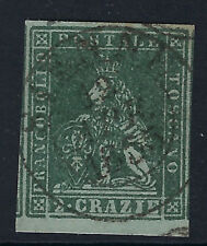 TUSCANY (Italy) :1851 2c dull blue/grey SG12 used
