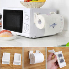Plastic Magnetic Paper Towel Roll Holder Towel Rack Dispenser Kitchen Bathroom