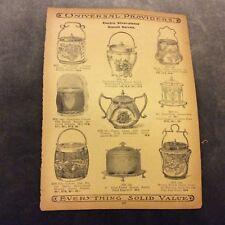 Antique Catalogue Page - Biscuit Barrels