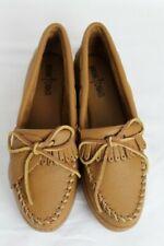 Minnetonka Women's Shoes Moosehide Leather Moccasins Size 9 Fringed Unused