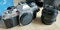 Camara fotografica reflex AV-1 Canon + lente de 50 mm + Maletín transporte