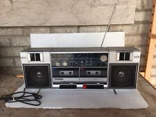 SANYO Vintage Boom Box FM Stereo Radio Cassette Recorder M W220 Tested & Working