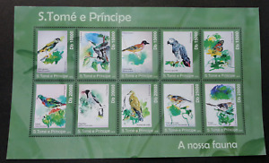 [SJ] Sao Tome Birds Painting 2010 Art Parrot Butterfly Insect (sheetlet) MNH