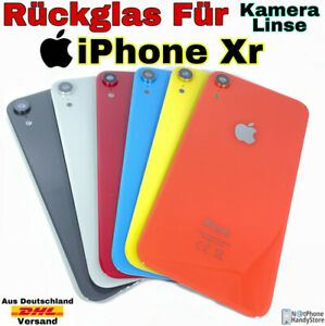 Akkudeckel Für ✅ Original ✅ iPhone XR Backcover Rückseite Glas Inkl. Kameralinse