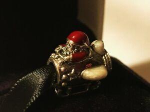 Authentic Pandora Santa in Space Charm Multi-Colored Enamel 797511ENMX new pouch