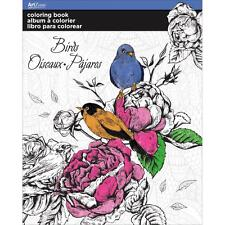 Adult Coloring Book Art Zone Birds 8 X 10 Flowers