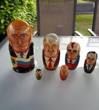 Alte Matroschka! Russische, USSR-Politiker 6 St. Perestroika!