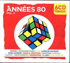 ANNEES 80 VOLUME 2 - 6 CD 120 TITRES - COMPILATION NEUVE SOUS CELLO - NEW SEALED