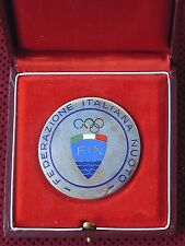 REPUBLIC OF ITALY-THE ITALIAN OLYMPIC SWIMMING FEDERATION PLAQUE IN ORIGINAL BOX