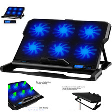 Gaming Laptop Cooling Stand Air Vent USB Powered 15.6 Inch 2 Ports Blue Led Fans