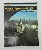 1984 Walthers World of HO Scale Train Railroad Accessories Catalog Vintage