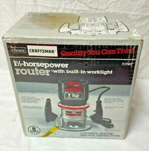 NOS Vintage Sears Craftsman Router 9-1749 315.17491 1 1/2 Hp