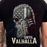 Until Valhalla Viking Us Flag Vintage T-Shirt