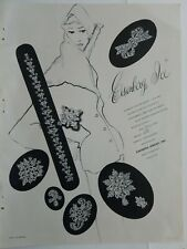 1949 Eisenberg Ice Jewelry bracelet pin brooch vintage original ad