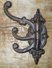 1 Cast Iron Antique Style SWIVEL Coat Hooks Hat Hook Rack Hall Tree Restoration