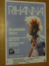 Rihanna - Glasgow may 2010 tour concert gig poster
