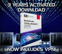 BITDEFENDER TOTAL SECURITY 2019, 1 DEVICE - 3 YEARS ACTIVATION DOWNLOAD