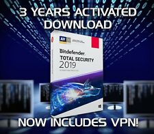 Bitdefender Total Security 2019, 1 Device - 3 ans d'activation Télécharger
