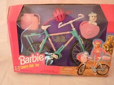 1997 Barbie Country Ride Bike with helmet, picnic basket and Yorkie Dog - NRFB !