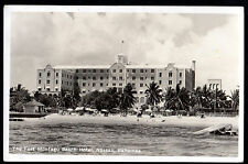 Rppc 1953 Nassau Bahamas Fort Montagu Beach Hotel Real Photo Postcard