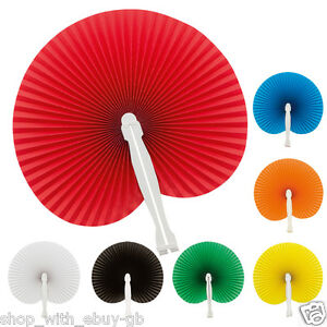 10 x Hand Held Mini Folding Chinese Paper Fans Wedding Favours Home Decor Crafts