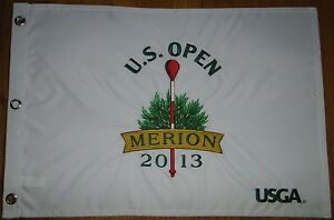 2013 US OPEN USGA Official MERION GOLF COURSE pin flag Embroidered Rare SOLD OUT