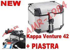 BAULE TOP CASE K-VENTURE KVE42A 42 LT + PIASTRA SR5108 BMW R 1200 GS 2013-2014