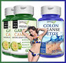 2 GARCINIA CAMBOGIA + 1 COLON CLEANSE DETOX Capsules 95% HCA Natural Weight Loss