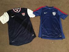NIKE USA MENS SOCCER 12/13 PLAYER ISSUED AWAY & TRAINING JERSEY LOT S M