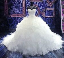 Organza Sleeveless Ball Gown/Duchess Wedding Dresses