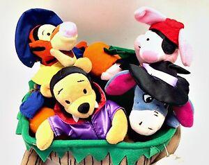 Disney Halloween Winnie the Pooh Wheelbarrow Bean Bag Set Retired