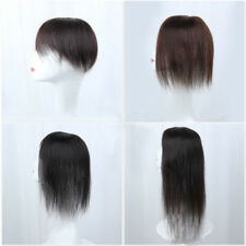 Topper Hairpiece Clip in 100% Human Hair Straight Remy Hair Top Toupee for Women