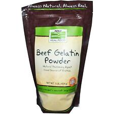 BEEF GELATIN POWDER  1 LB By Now Foods