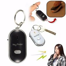 LED Key Finder Keychain Whistle Sound Control Locator Find Lost Keys Chain