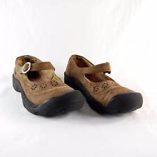 Keen Calistoga Women Brown Nubuck Leather  Strap Buckle Mary Jane US Shoe Size 7