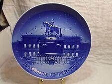 "1970 B&G Copenhagen PorcelAin 9"" Christmas Plate Amalienborg The Royal Palace"