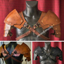 Cosplay Props Vintage Witcher Pauldrons Medieval Leather Shoulder Armor Warrior