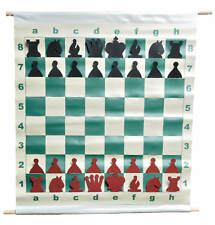"""28"""" Slotted-Style Vinyl Demo Chess Set with Deluxe Carrying Bag"""