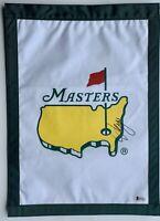 Sergio Garcia signed Masters flag augusta 2021 masters golf pga beckett coa