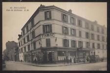 POSTCARD BOULOGNE FRANCE Corner Cafe & Tabac Tobacco Shop Rue de Bellevue