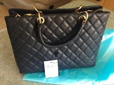 Fashionable Italian Designer Women's Black Leather Shoulder Handbag
