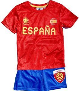 EURO 2020/21 Spanien TRIKOT + HOSE FUSSBALL EM UEFA KINDERSET 116 128 140 152