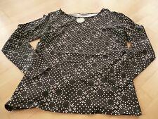 Laura Classic Shirt Herbst Gr.40 schwarz weiße Punkte