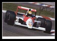 AYRTON SENNA AUTOGRAPHED SIGNED & FRAMED PP POSTER PHOTO