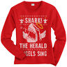 Shark! The Herald Angels Sing Women's Long Sleeve T-Shirt Christmas Gift